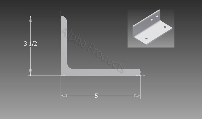AP-B710(right) Y-Shaped Angle Bracket