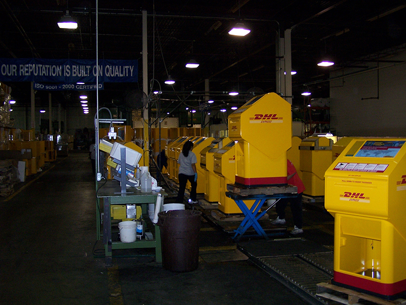 DHL Parcel Collection Boxes In Production